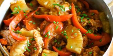 دجاج بالصلصة الحلوة والحامضة اللذيذة