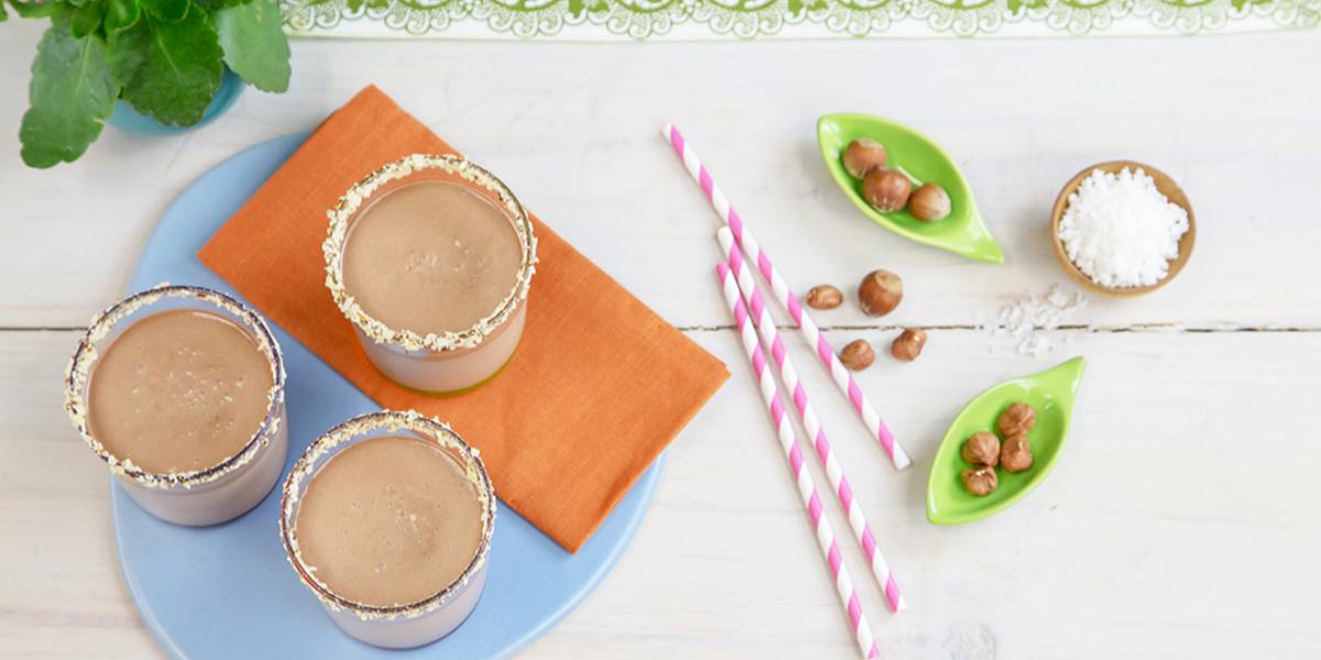 Batida de Coco y Crema de Avellanas y Chocolate
