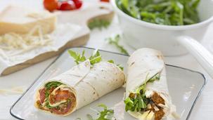 Veggie Bolognese Wraps