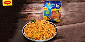 Hot Garlic Prawns Broad Noodles