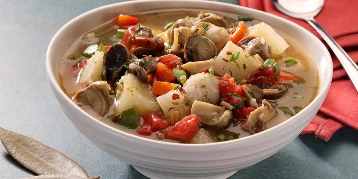 Conch And Dumpling Soup