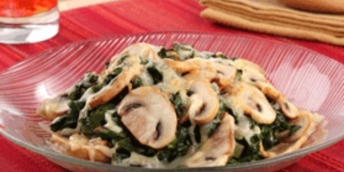 acelgas con queso y champiñones