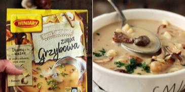Zupa borowikowa ze świderkami i podsmażanymi borowikami