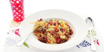 Italiaanse gehaktsaus met spaghetti