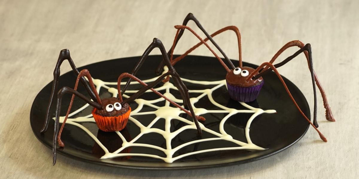 Cupcakes de araña
