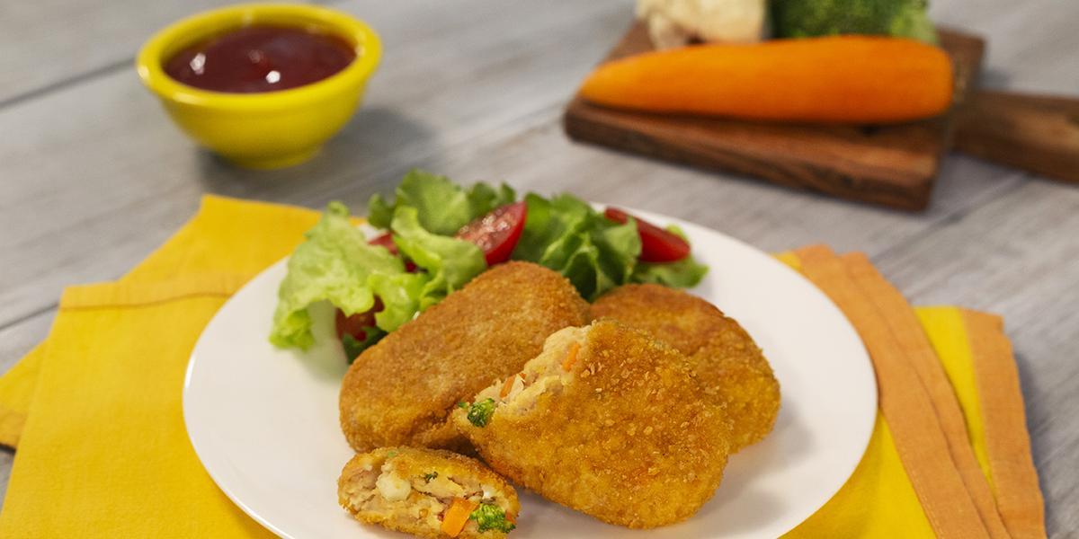 Nuggets con bits de verduras