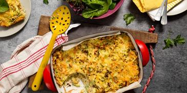 Savoury Cheese & Vegetable Noodle Bake