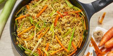 Noodles cu legume fierte