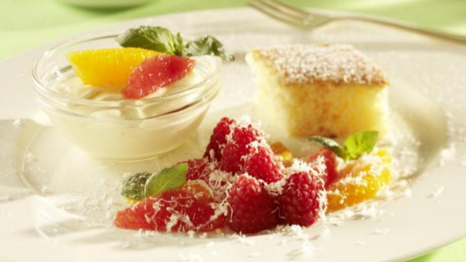 Dessert-Variation mit Limoncello