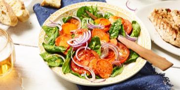 Salat mit gegrillten Süßkartoffeln