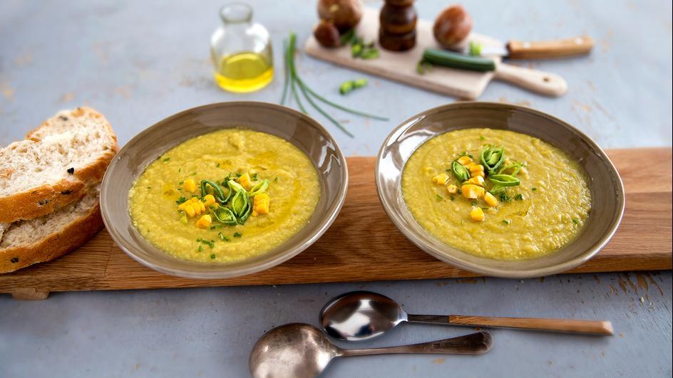 Avokadų ir kukurūzų sriuba
