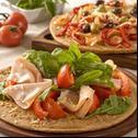 Pizza mit Spinat und frischem Ziegenkäse