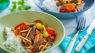Sweet Chili Beef Gemüse-Pfanne