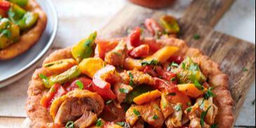 Farsz do langosza z kurczakiem i warzywami po meksykańsku