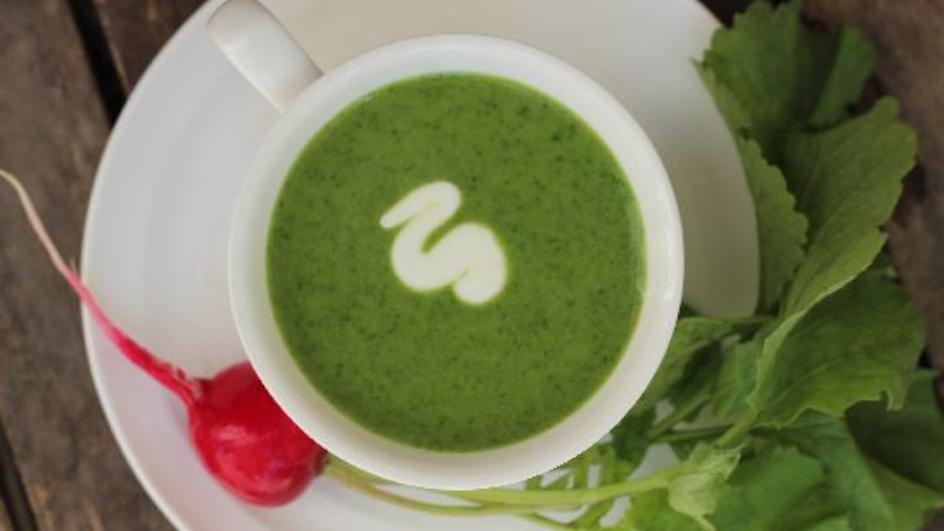 Zupa z liści młodej rzodkiewki