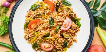 Salmon theldala Mixed rice