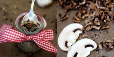 Aromatyczna przyprawa z suszonych pieczarek