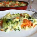 Спагети Карбонара със зеленчуци