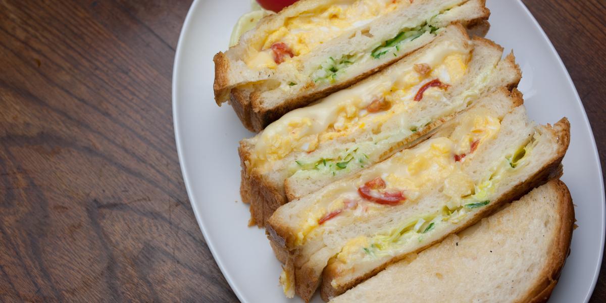 Sándwich de Huevo con Queso