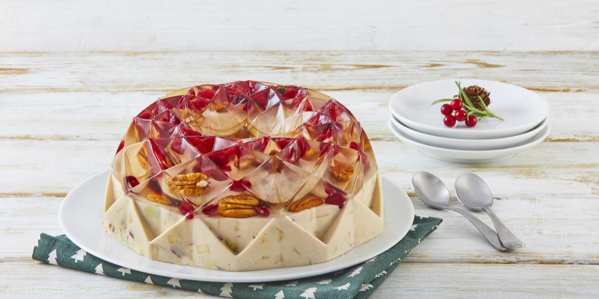 Gelatina de ensalada de manzana