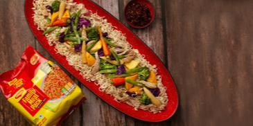 Maggi Noodles with chop Suey