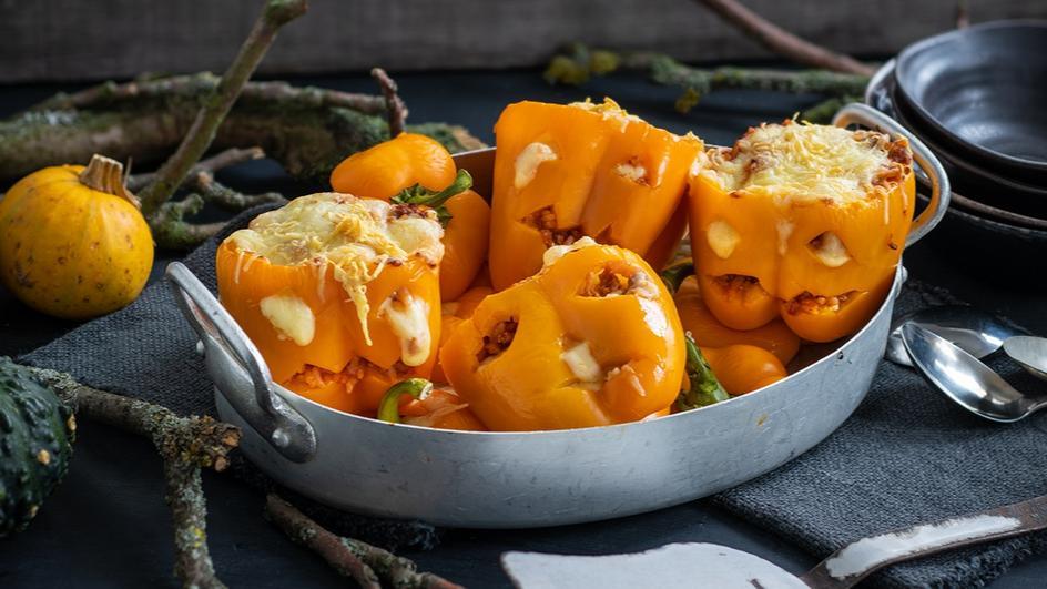 Gefüllte Paprika - Halloween Edition