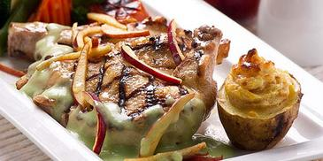 Grilled Chicken with Apple Sauce