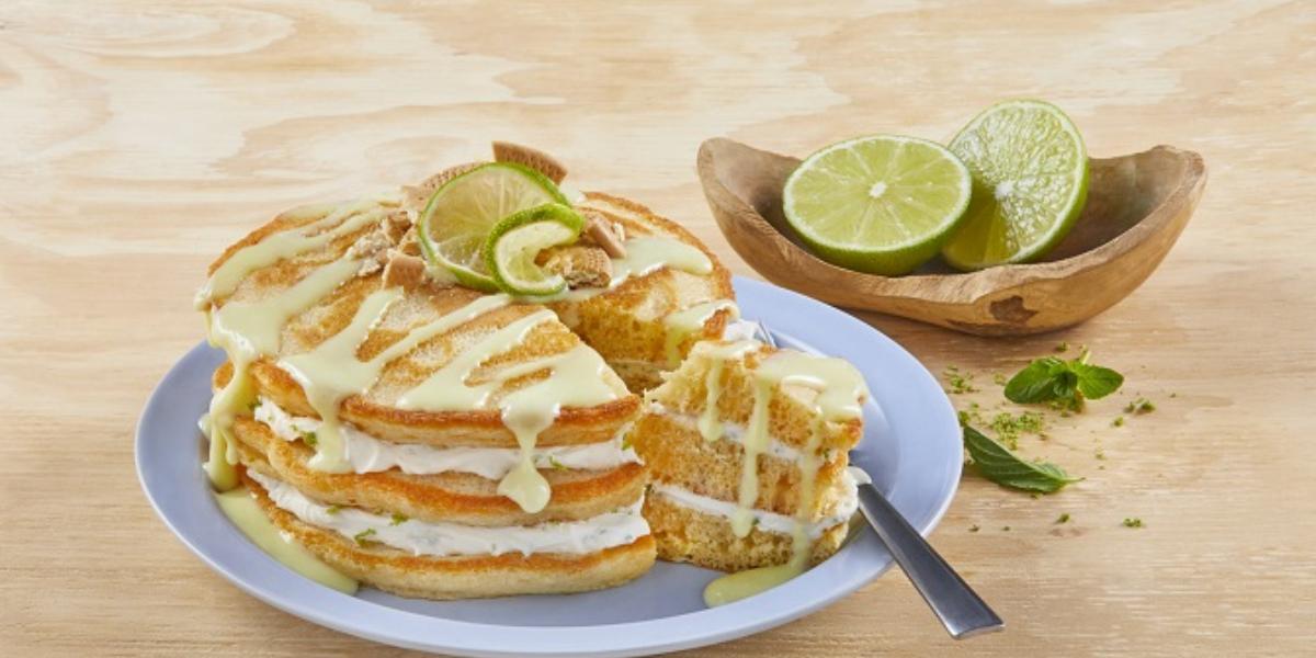 Hot cakes pay de limón