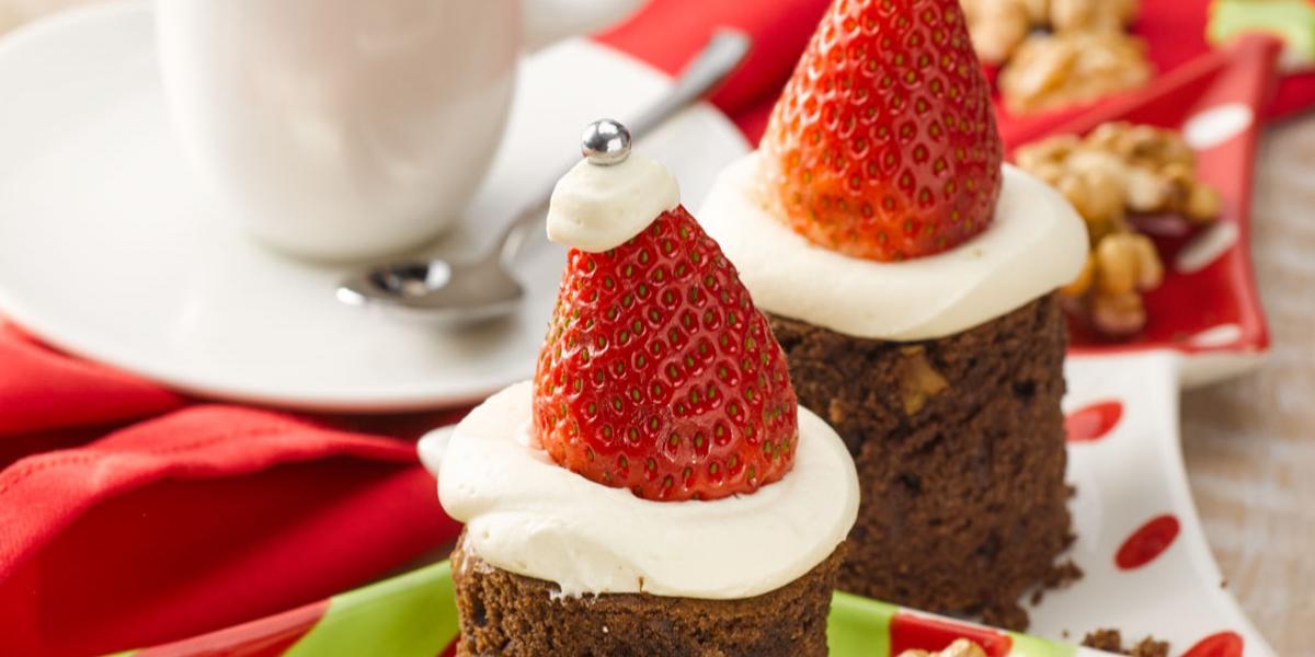 Brownie Navideño sin Azúcar