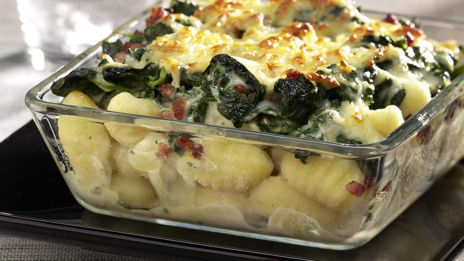 Gnocchi-Spinat-Gratin