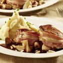 Balsamico-Steinpilze mit Schweinemedaillons