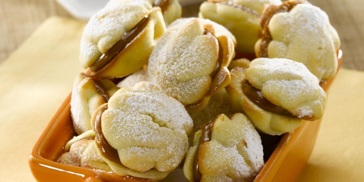 Galletas de Vainilla y naranja con Manjar