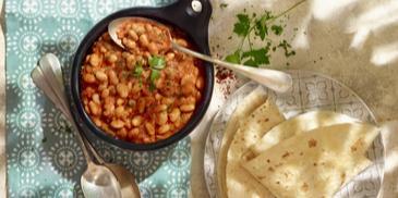 Harissa baked beans