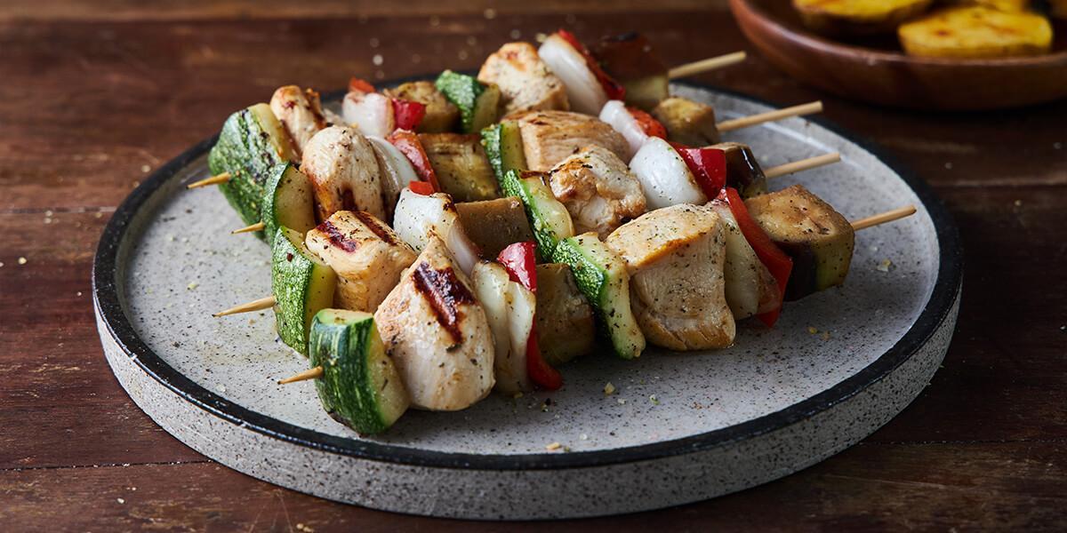 Bochetas de pollo con vegetales