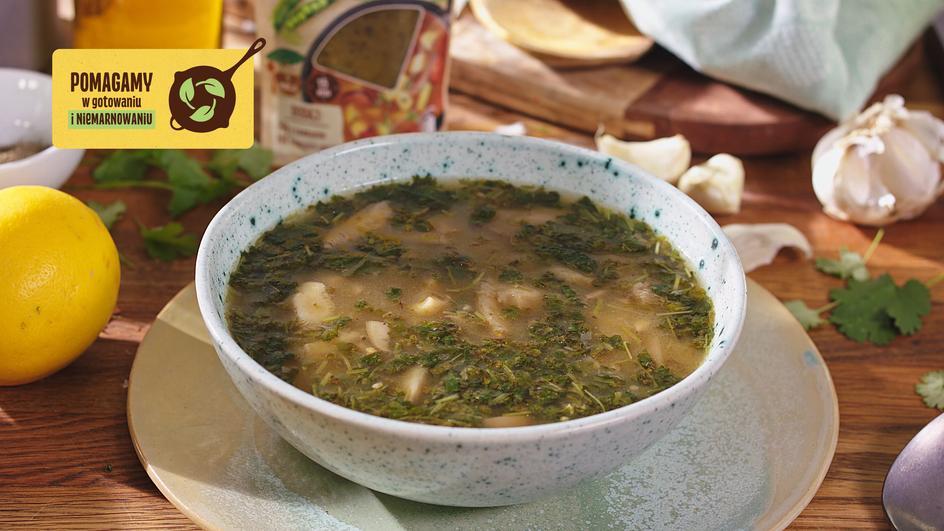 Zupa grochowo-grzybowa