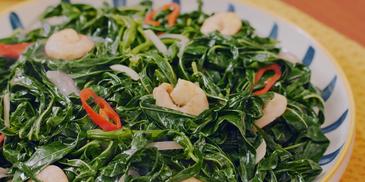 Stir-Fried Tapioca Leaves