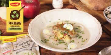 Barszcz biały z tłuczonymi ziemniakami