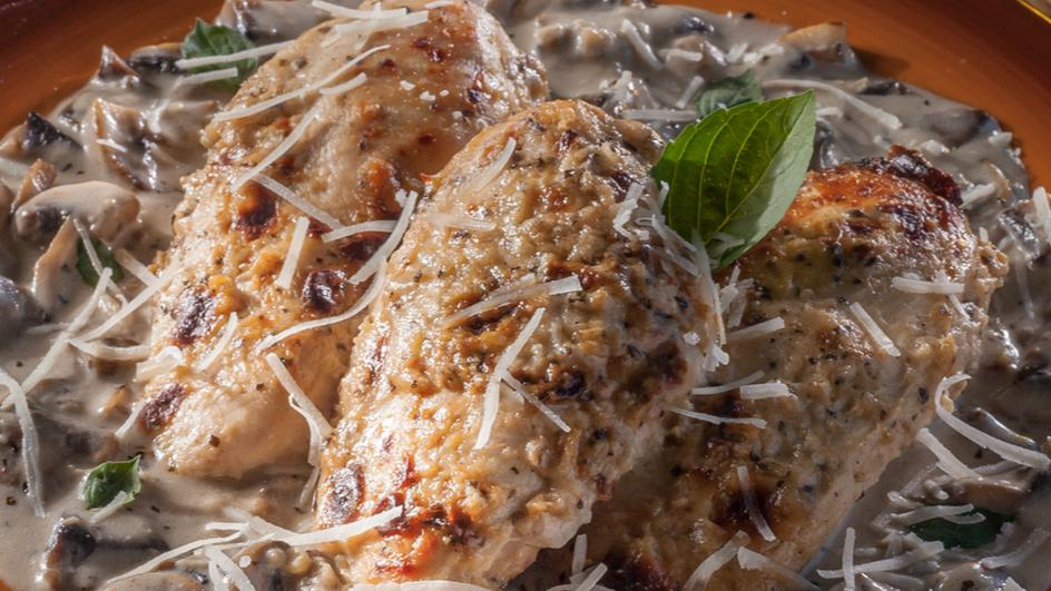 Roasted Chicken With Alfredo Sauce