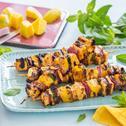 Halloumi Grill-Spieße mit Mango und Minze