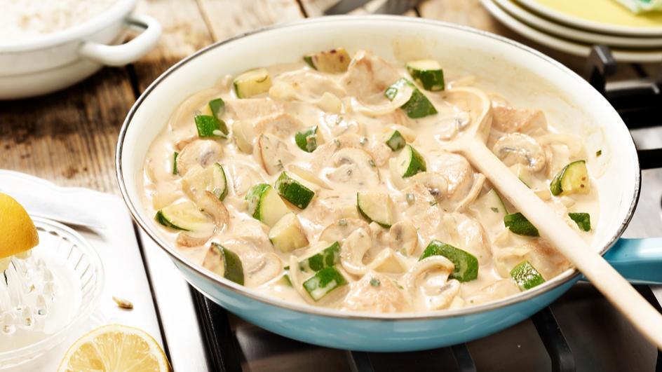 Puten-Zucchini-Geschnetzeltes