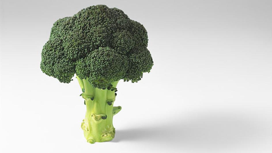 Shoarmavlees met broccoli en bloemkool