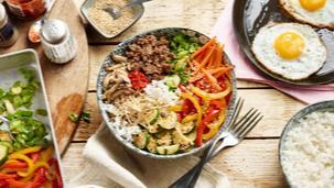 Bibimbap - koreanisches Reis-Bowl