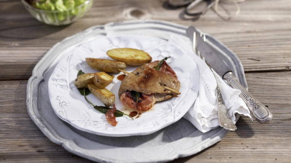 Kalbsschnitzel Saltimbocca