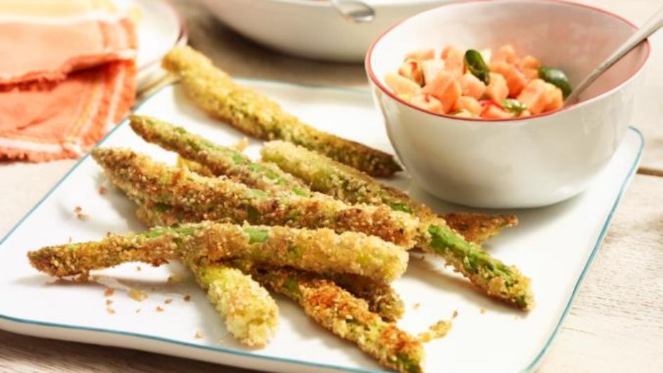 Gebackener Spargel mit  Papaya-Salsa