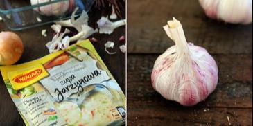 Kartoflanka na wędzonym boczku z pieczonym czosnkiem i ostrą papryką
