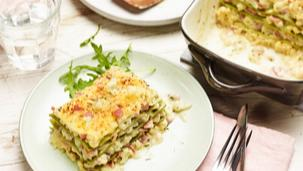 Blumenkohl-Schinken-Lasagne