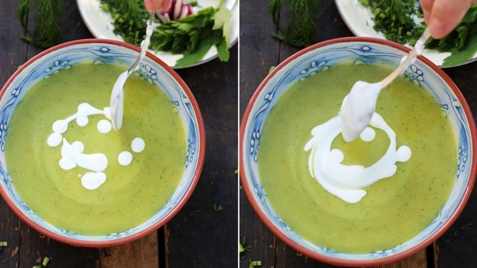 Zupa koperkowa z jajkiem (żółtkiem)