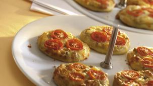 Herzhafte Mini-Pizzen