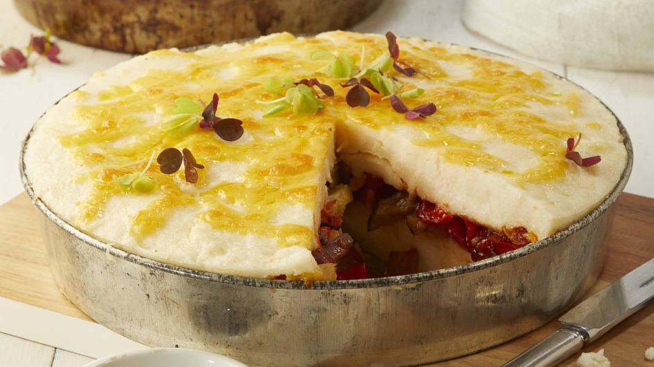 Pap & Roasted Vegetable Tart