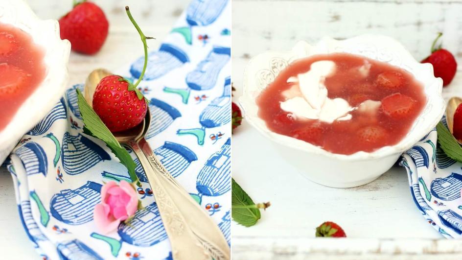 Zupa owocowa z lanymi kluskami